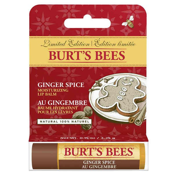 Burts Bees Ginger Spice Moisturising Lipbalm Limited Edition