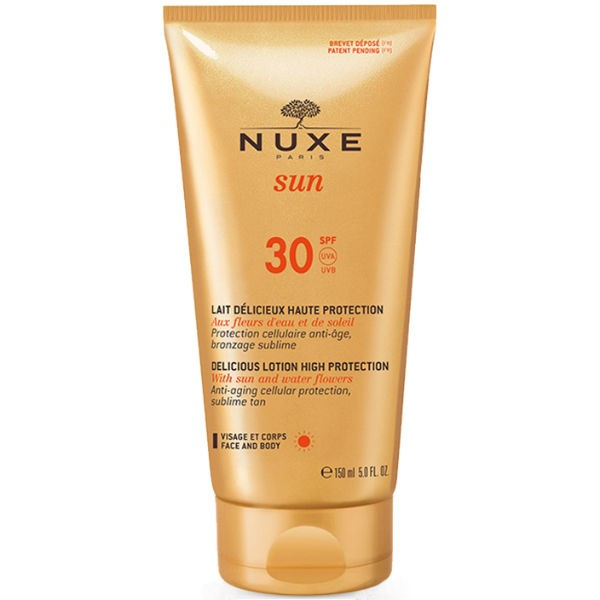 Nuxe Sun Delicious Lotion High Protection For Face and Body SPF30 150ml